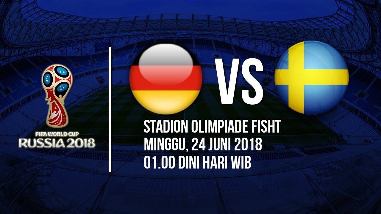 Jadwal Live Trans TV Pertandingan Piala Dunia 2018: Jerman Vs Swedia Pukul 01.00 WIB