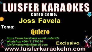 Joss Favela    Quiero    Karaoke Demo