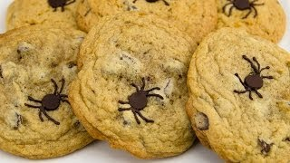 Spider Chocolate Chip Cookies: Halloween Chocolate Chip Cookies From Cookies Cupcakes And Cardio