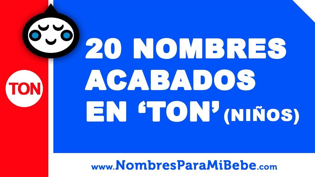 20 nombres para niños terminados en TON - los mejores nombres de bebé - www.nombresparamibebe.com