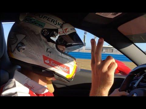 Hot lap with Sebastian Vettel