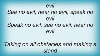 Anvil - No Evil Lyrics