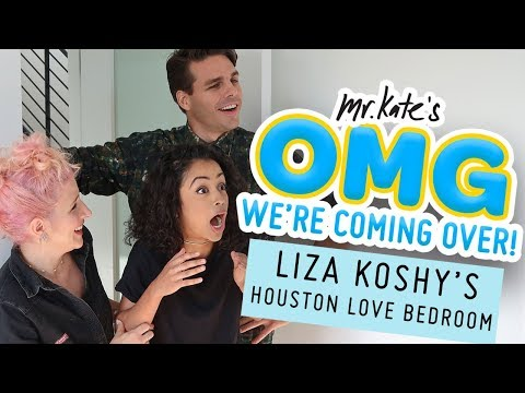 Liza Koshy's Houston Love Bedroom Makeover | OMG We're Coming Over | Mr. Kate