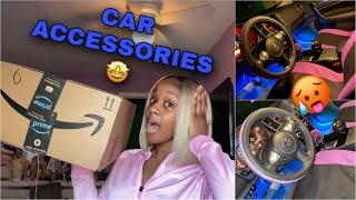 I GOT MORE CAR ACCESSORIES FOR MY CAR!!! | Amazon Unboxing + Drive With Me + Cleaning My Car
