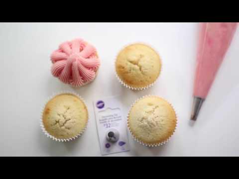 Spritztülle #32 für Buttercreme Dekoration - Tipps und Spritztechniken für Cupcakes