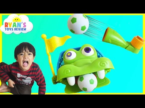 Gater Goal Family Fun Games for Kids Surprise Toys Ryan ToysReview