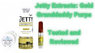 Jetty Extracts Gold: Granddaddy Purps Vape Cartridge Tested and Reviewed. by  Weeats Reviews