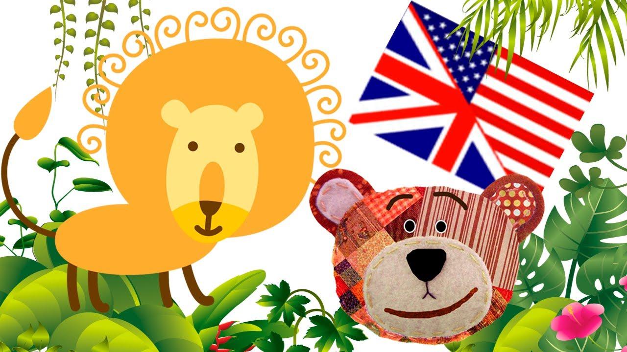 Los animales de la selva en inglés para niños