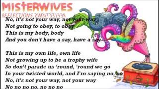 Not Your Way - Misterwives lyrics