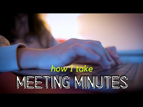 , title : 'How to write meeting minutes at work as a beginner (take digital notes in meetings in office jobs)