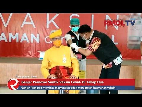 Ganjar Pranowo Suntik Vaksin Covid 19 Tahap Dua