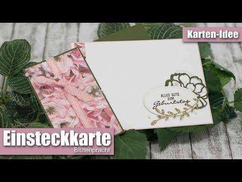 Einsteck-Karte Blütenpracht & Gartenzauber   Auch als Hochzeitskarte ggeignet   Stampin' Up!