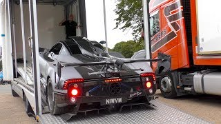 The Pagani ZONDA OLIVER STRUGGLING to get onto its trailer