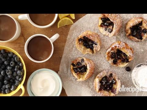 How to Make Blueberry Popovers   Brunch Recipes   AllRecipes