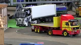 preview picture of video 'Stockinger Achern - Teil 2 -  different RC Trucks at the OTSF Parcours'