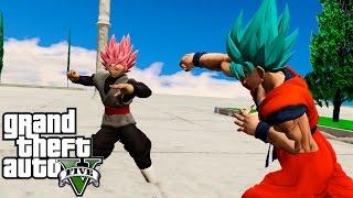GOKU VS BLACK GOKU EN EL TEMPLO SAGRADO | GTA 5 MOD | CROCO