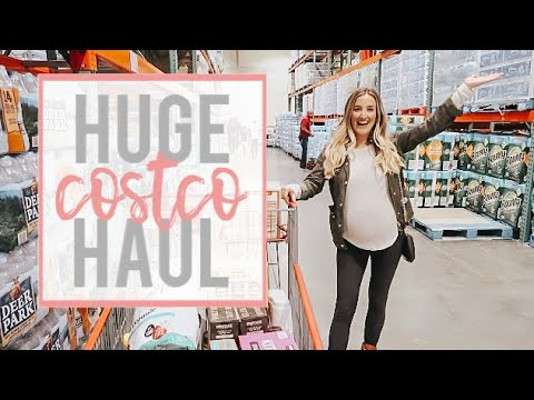 HUGE HEALTHY COSTCO HAUL | STOCKING UP BEFORE BABY | Becca Bristow