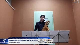 Bernardo CORREIA PEREIRA plays Home by A. Scott #adolphesax