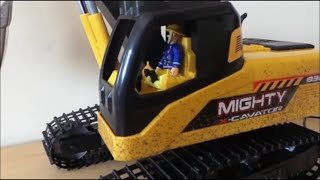 Unboxing The  New Dickie Toys Caterpillar Mighty Excavator Toy for ToyBroadway