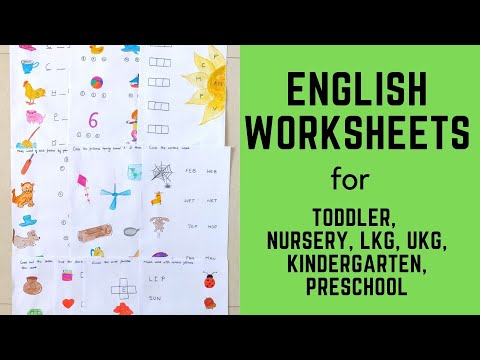 Daily Practice English Worksheets for Toddler, Nursery, LKG, UKG, Kindergarten, Preschool | #4