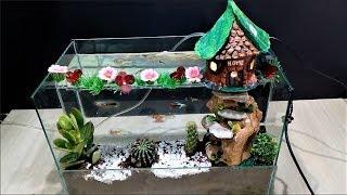 How To Make Aquarium With Mini Garden Terrarium