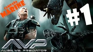 Marine  Alien Vs Predator   Parte 1  Soldado Noob En Español Por Marval