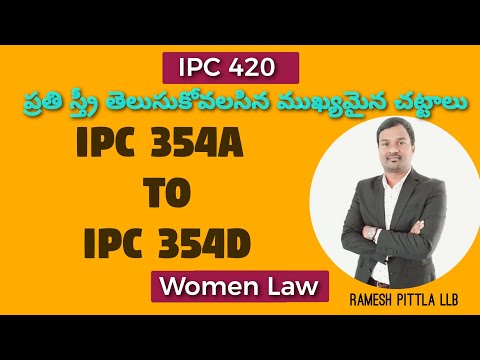 IPC Section 354 A to 354D By Ramesh Pittla