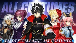 Fate Extella Link! All Unlockable Costumes!