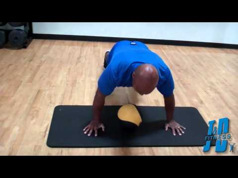 Get stronger doing a Plyometric Push Up with a Medicine Ball