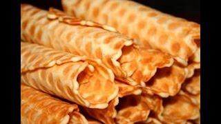 Как приготовить вафельные  трубочки. | How to prepare a wafer rolls.