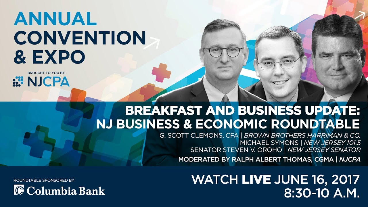 Business & Economic Roundtable at the 2017 NJCPA Annual Convention & Expo