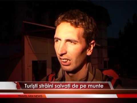 Turişti străini salvaţi de pe munte – VIDEO