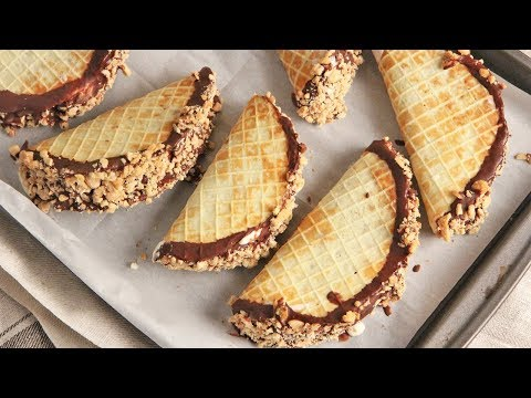 DIY Choco Tacos (Chocolate Waffle Ice Cream Tacos) | Ep. 1271