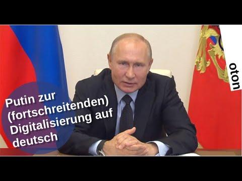 Putin über die (fortschreitende) Digitalisierung auf deutsch [Video]
