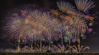 [4K60P]鳳凰乱舞2018こうのす花火大会正四尺玉worldsheaviestfireworkshell