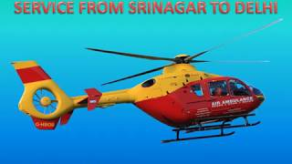 Low-Cost Air Ambulance Services from Srinagar to Delhi by Hifly ICU