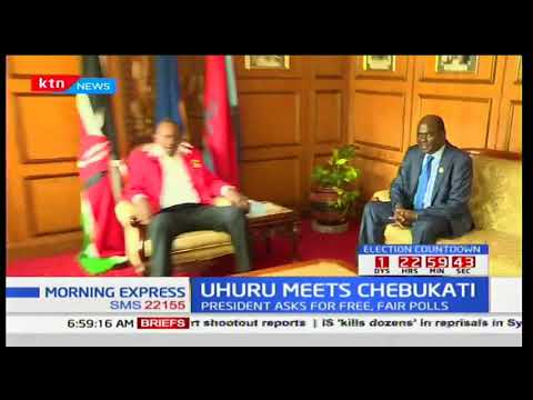 President Uhuru meets Wafula Chebukati for the first time since Supreme Court nullified elections