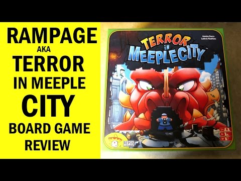 Rampage aka Terror In Meeple City Board Game Review