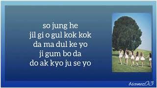 GFRIEND Me Gustas Tu easy lyrics