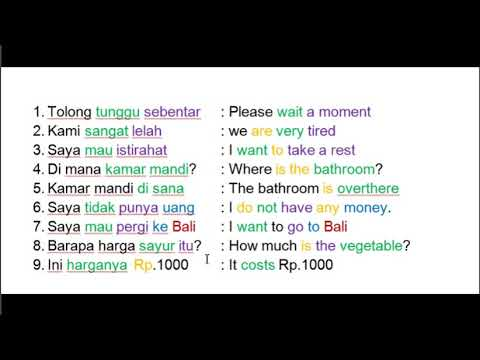 Learn Indonesian Language   128 Most  Common Indonesian Phrases Part 2