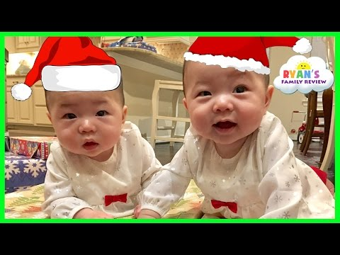 Christmas Morning 2016 Opening Presents Surprise Family Fun Baby 1st Christmas Ryan's Family Review