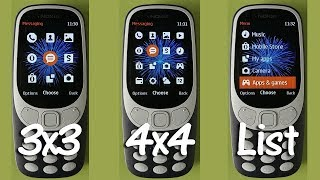 Nokia 3310 Change Menu View and Create Shortcut Go To Menu List