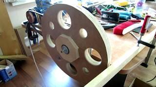 Сборка и проточка колес для самодельной ленточной пилы