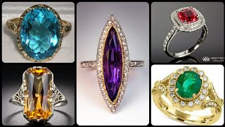 Luxurious Amazing And Gorgeous Designs Different Gemstone Rings Engagement And Perfect Wadding Ideas