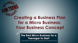 Creating a Business Plan for a Micro Business: Your Business Concept