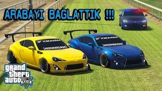 GTA 5 POLİS ARACI BAĞLADI !!! TOYOTA GT 86 ROCKET BUNNY - EKİP