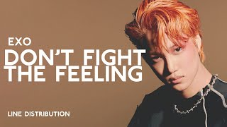 EXO - Don't fight the feeling   Line Distribution