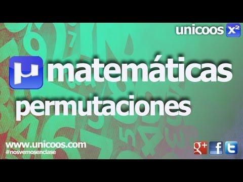 Combinatoria 02 - Permutaciones sin repeticion 4ºESO  unicoos matematicas