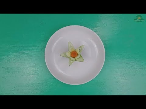 How to make a Lily flower from Cucumber