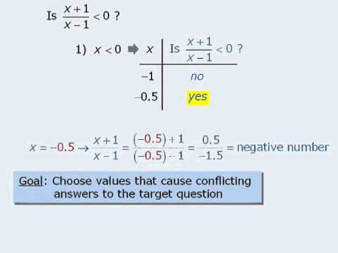 An Overview of GMAT Data Sufficiency – Lesson Eight – Choosing Good Numbers